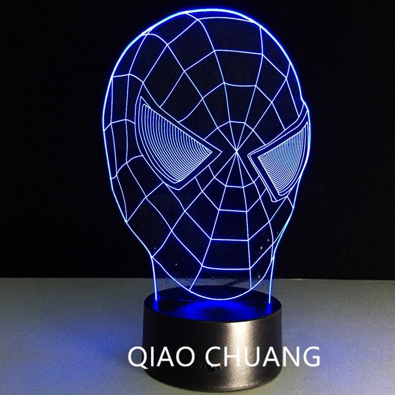 Мстители: Бесконечность войны Лига Справедливости супергерой Человек-паук семь Цвета touch Дистанционное управление 3D акрил творческий свет...