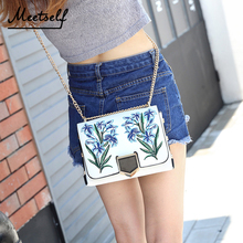 MEETSELF Women Cross Body Bags High Quality Embroidery Mini Small Square Package Fashion Trend Female Shoulder Bag Handbags