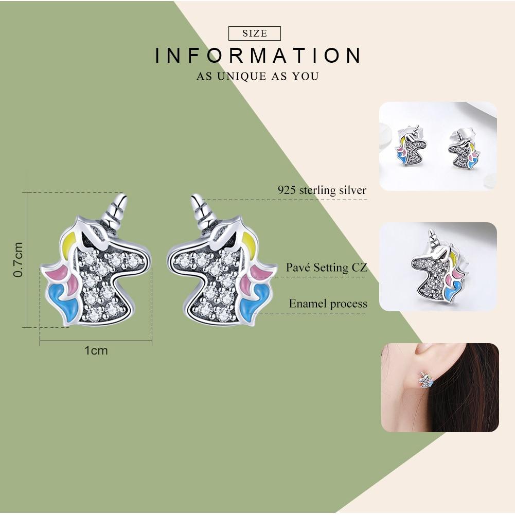 Dazzling Crystal Unicorn Women's Stud Earrings Earrings Jewelry Women Jewelry