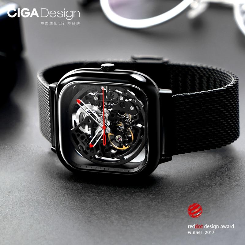 Xiao mi mi jia mi CIGA conception évidé montre-bracelet mécanique montre Reddot Winner inoxydable mode luxe montres automatiques - 5