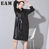 Autumn Outfit Tassel Version Loose Big Long Shirt Dress Tide Squares Loose Blosues For Woman
