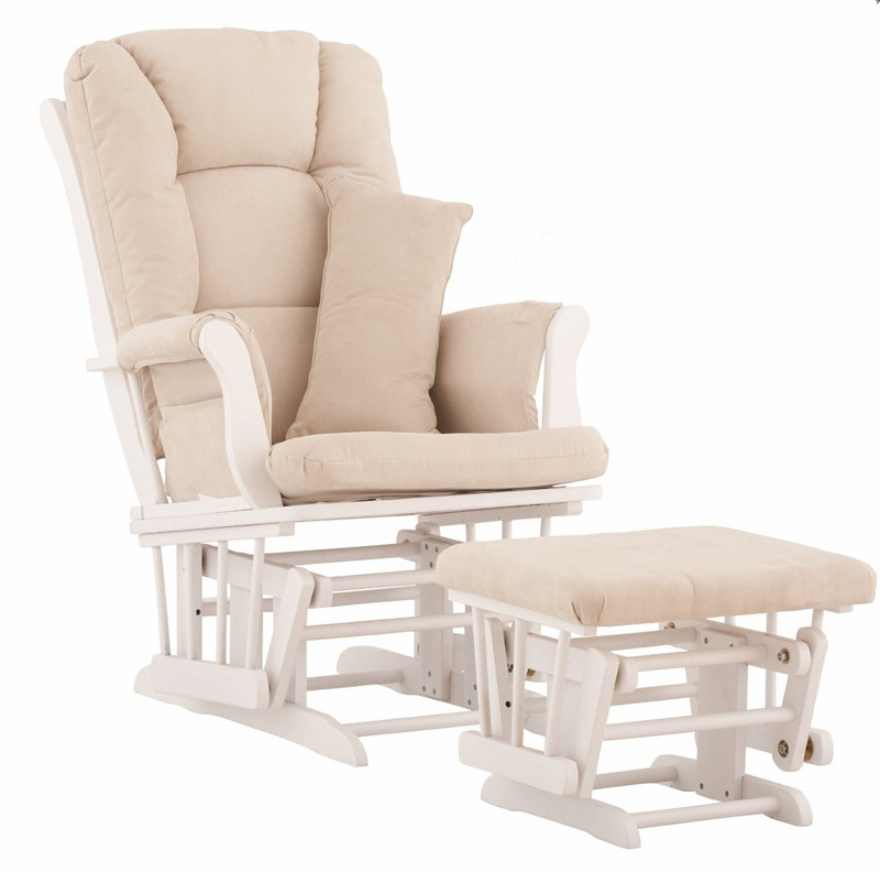 white wood rocking chair desk on sale nursery rocker and gliders ottoman with padded cushion living room furniture modern for