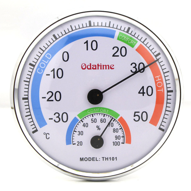 New Indoor Outdoor Thermometer Temperature Garden Hygrometer Comfortable  Tester Weather Meter #TH101 L