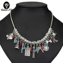 Drop shipping Doctor Who Necklace Dr. strange Police Box&Sonic Screwdriver&Dalek Robot Charm Pendant choker Necklace Jewelry