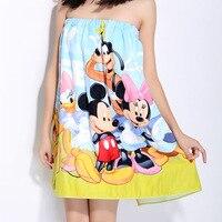 Disney bathTowel 100%Pure Cotton children towel Adult girl bathTowels Cute sexy can wear Minnie Mickey partner Beach garden