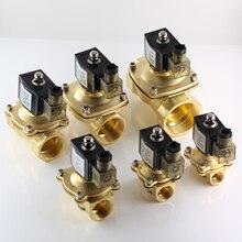 """AC 220 V zawór elektromagnetyczny wody normalnie zamknięty, DC 24 V elektryczny zawory, 12 V G1/2 """"3/4"""" 1 """"do 2"""" zawór do gorącej wody oleju powietrza"""
