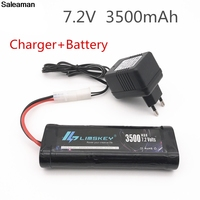 Saleaman 7.2V 3500mAh Ni MH Battery Pack Tamiya Plug With Charger High Capacity SC*6 Cells for RC Control Car Toys Battery