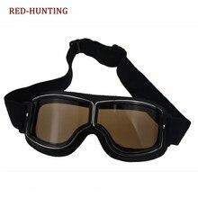 b2bb9eecc5 Caliente Estilo Vintage Harley moto rcycle viento gafas para moto ciclismo  cross moto Sport gafas Aviator