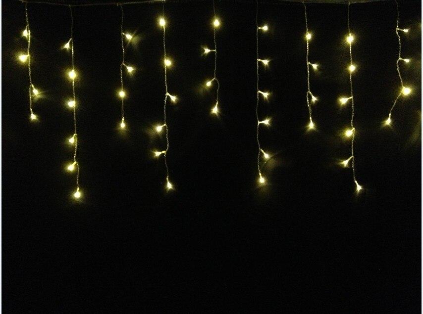 Jiawen 2pcs/lot 220V Multicolour 100 LEDS 3M LED Curtain String Xmas Christmas Decoration Icicle Lights Free Shipping