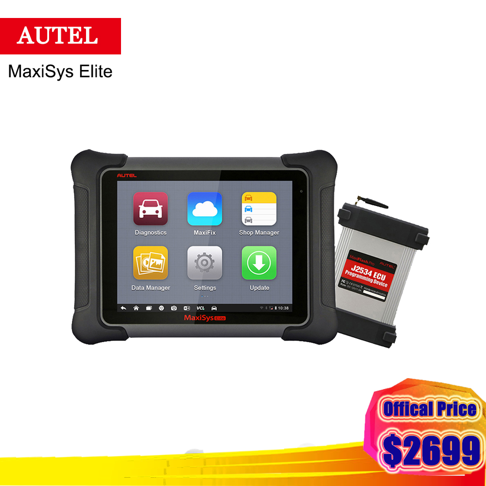 TWO Years FREE UPDATE Autel MaxiSys Elite Universal Auto Scanner Diagnostic J2534