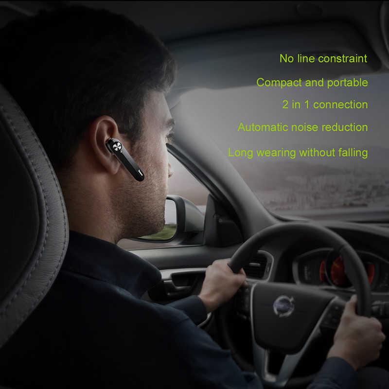 Baseus bezprzewodowe słuchawki Bluetooth Mini biznesowe przenośne słuchawki z mikrofonem a01dla xiaomi iPhone jazdy Fone De Ouvido