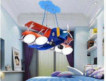 จัดส่งฟรี L67cm ความคิดสร้างสรรค์เครื่องบินจี้ตกแต่งเด็กห้องนอนเด็กตกแต่งบ้านการ์ตูนโคมไฟ