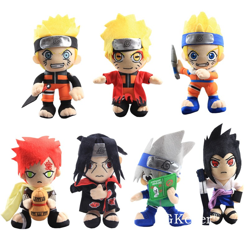 Anime Naruto Plush Toys Cool Gaara Hatake Kakashi Uchiha Itachi Sasuke Soft Stuffed Dolls 8