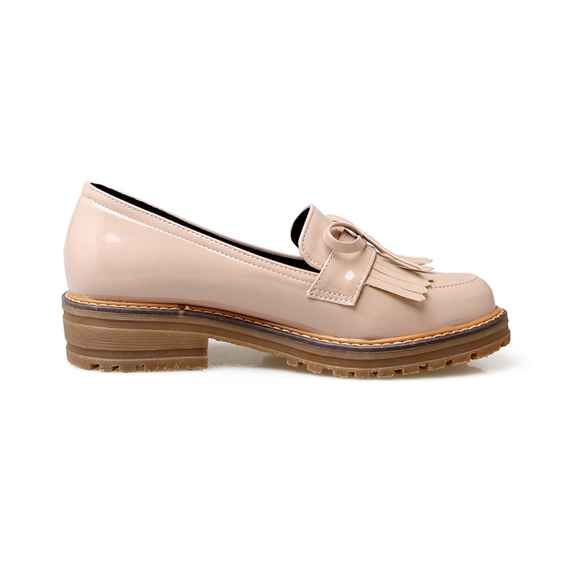 f1091a153c8 KarinLuna Women s Patent Leatherret Chunky Heel Platform Shoes Woman School  Girl s Oxfords Big Size 34 43-in Women s Flats from Shoes on Aliexpress.com  ...