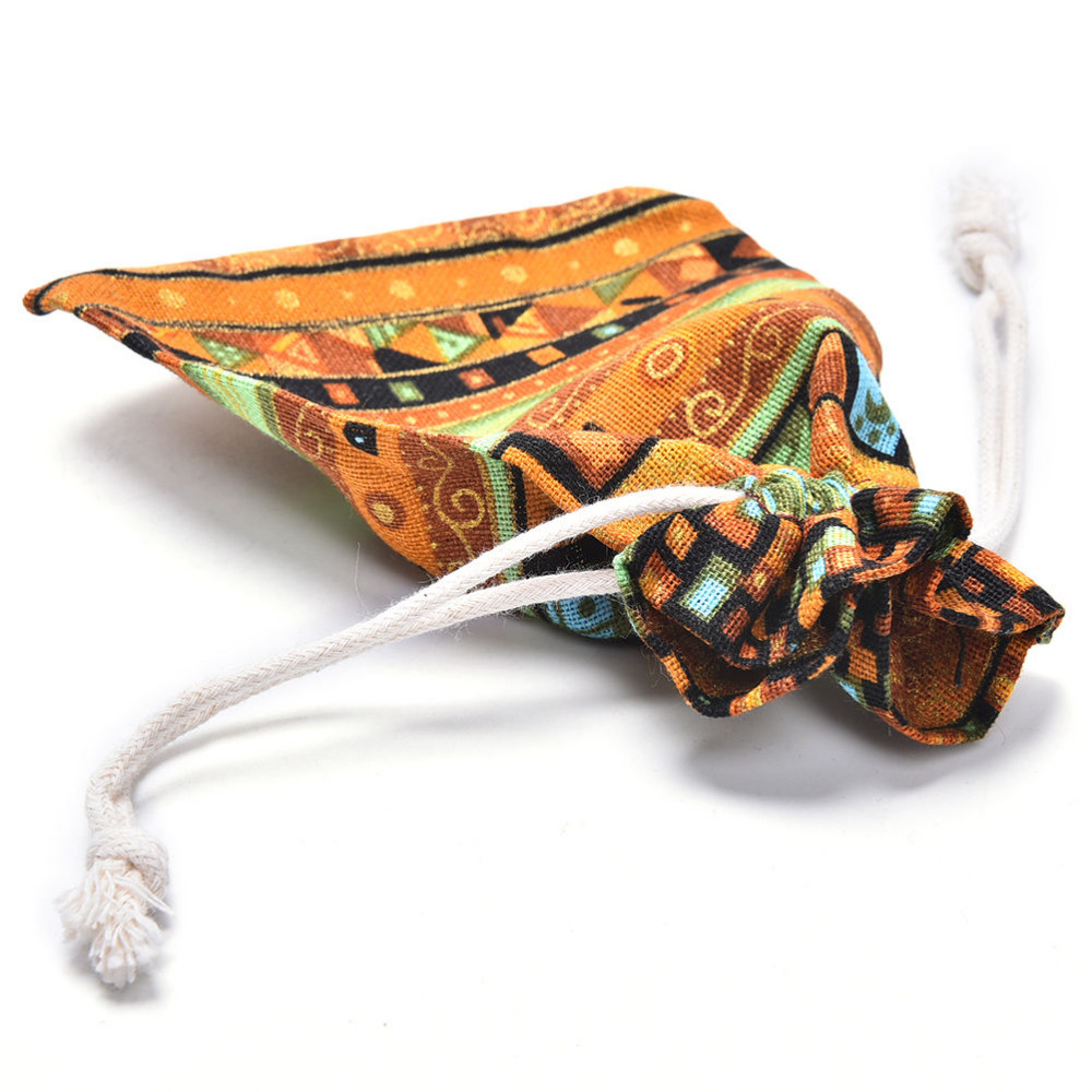 Pouch Fabric-Packaging Wedding-Bag Jewelry Gift Drawstring Cloth Linen with 1pcs 10cm--14cm