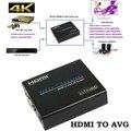 4 k x 2 k 1080 p hdmi a vga adaptador convertidor de digital a analógico de audio y vídeo hdmi adaptador de caja para crt/lcd/led monitor hdtv proyector