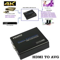 1080P PC Laptop 4K HDMI To VGA Audio Video Adapter Converter Box With Audio Port Support