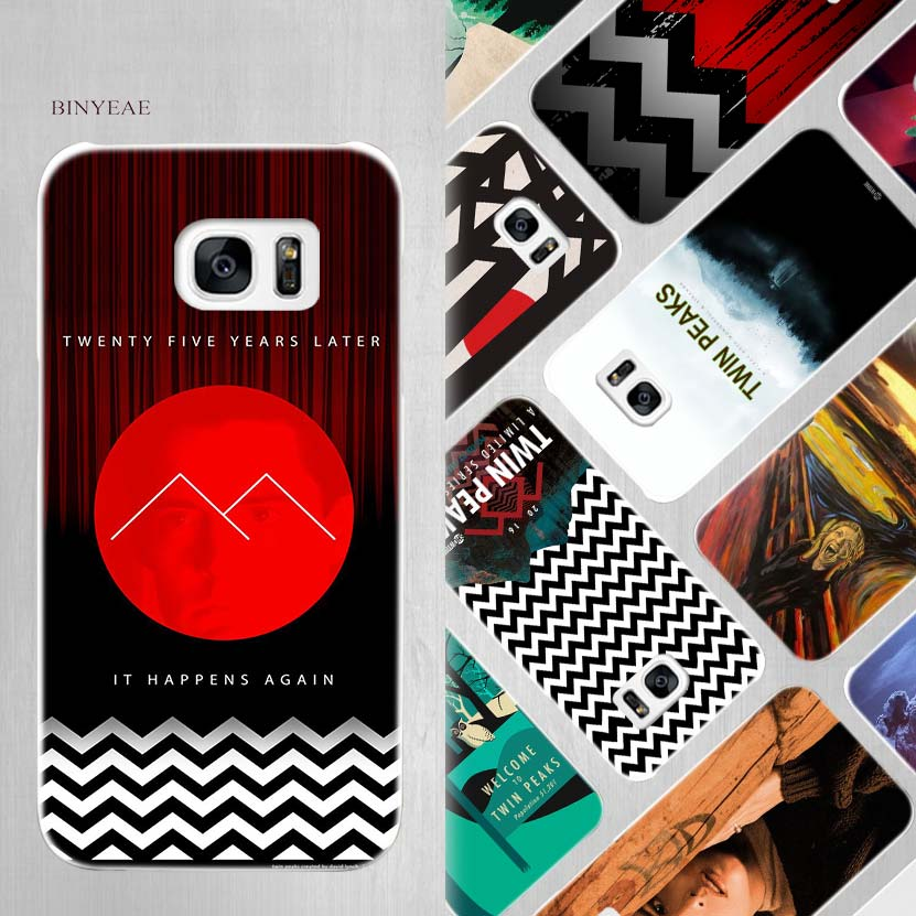 BINYEAE Welcome Twin Peaks Hard White Case Cover for Samsung Galaxy S5 Mini S6 S7 S8 Edge Plus Note 4 5 8