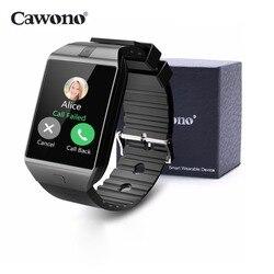 Cawono DZ09 ساعة bluetooth ذكية Smartwatch Relogio TF سيم بطاقة الكاميرا ل فون سامسونج HTC LG هواوي الروبوت الهاتف VS Q18 Y1