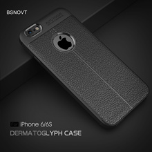 For iPhone 6s Case Soft TPU Leather Anti-knock Shockproof Phone Cover / 6 BSNOVT