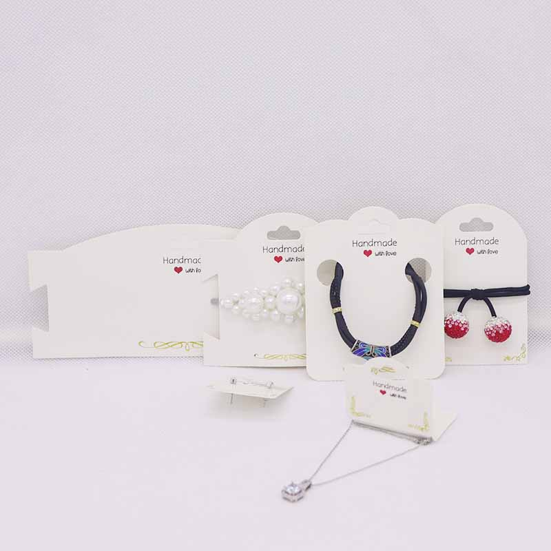50PCS Paper Deluxe Gold Design Jewelry Packing Display Card.DIY Handmade Jewelry Earring Card&hair Band/necklace/bracelet Card