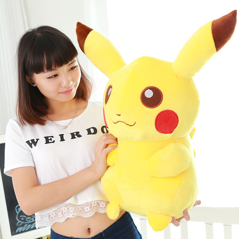 new lovely plush yellow Pikachu toy soft cute high quality pikachu doll gift about 65cm 2016 new super mario plush 17cm one piece anime soft yoshi plush cute lovely doll kids gift
