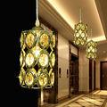 Modern Crystal Gold pendant lamp led hanging lights AC85-265V 3W European Style Crystal LED Pendant Light Dining Room