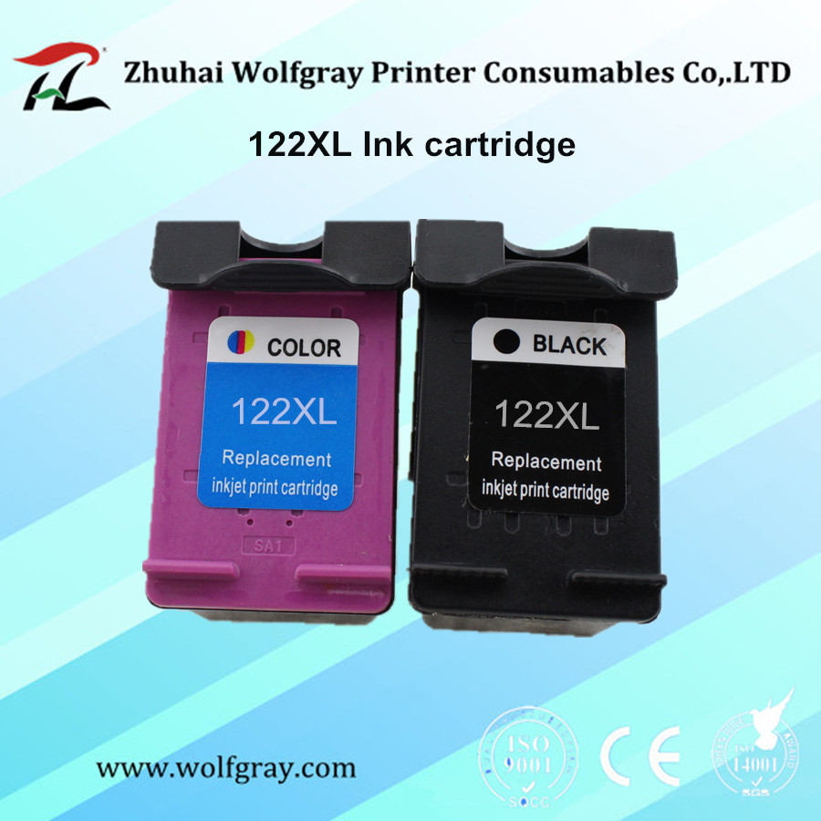 YI LE CAI Compatible Ink Cartridge For hp122 122XL for HP 122 Deskjet 1000 1050 2000 2050 2050s 3000 3050A 3052A 3054 1010 1510 hwdid 56xl 57xl ink cartridge compatible for hp 56 57 c6656a c6657a deskjet 450ci 5550 5552 7150 7350 7000 2100 220 printer