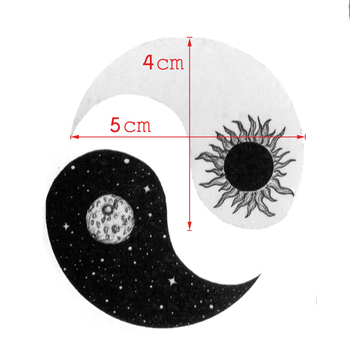Sun and Moon Yin and Yang Waterproof Temporary Tattoos Sticker For Men And Women Body Art Tattoo Beauty  Temporaryt Tatoo 1