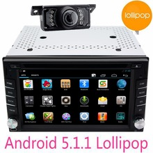 2Din Android 5.1.1 Car dvd headunit Stereo GPS Navigation Double 2 Din HD Car dvd wifi autoRadio Multimedia Player free camera