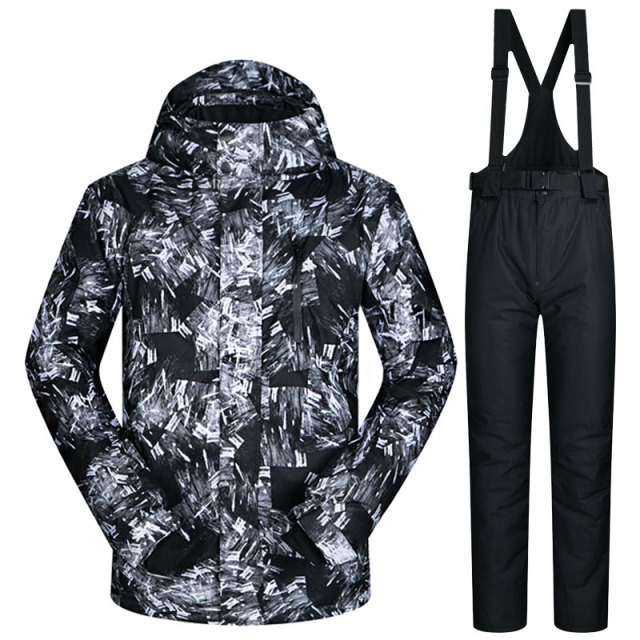 Мужской лыжный костюм, брендовая новая ветрозащитная Водонепроницаемая дышащая одежда, лыжный костюм для сноубординга и штаны, зимняя Лыжная куртка для мужчин