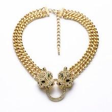 Мода большая голова леопарда, ожерелье