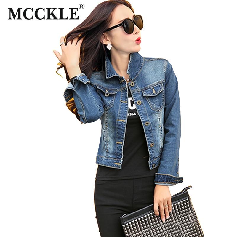 MCCKLE Brand Fashion Jeans font b Jacket b font font b Women b font 2017 Autumn