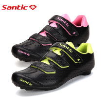 Santic Professional Cycling Shoes Athletic Road Bike Lock Shoes Bicycle Shoes Zapatillas Ciclismo Carretera Breathable Unisex