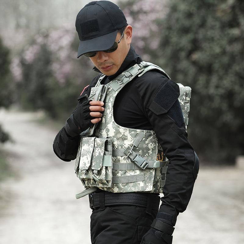 Männer Taktische Weste Jagd Military Airsoft Camouflage Military Uniform Kampf Weste Colete Tatico Armee Kleidung US Navy Seal - 4