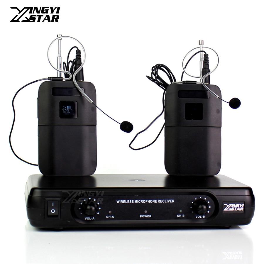 Professionnel WCE6D unique oreillette sans fil Microphone casque micro récepteur sans fil BLX1 émetteur pour kaefairy accueil fête chanter