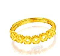 Новое поступление 999 24 K кольцо из желтого золота женское цветочное кольцо 2,76 г