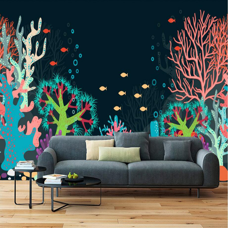 Custom 3D Wall Murals Wallpaper Vintage Sea World Wallpaper Decorative Sofa Background Wall Murals Kid Room 3D Wallpaper Sticker custom large murals bar retro fashion flag sticker wallpaper coffee shop restaurant dinig room tv sofa wall bedroom 3d wallpaper