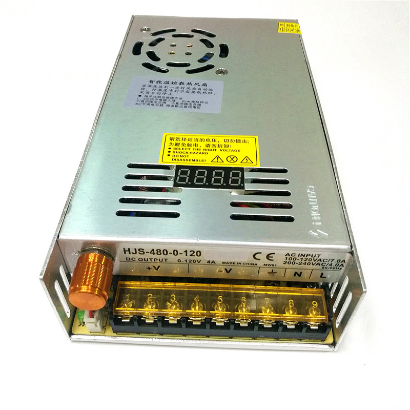 0 120V 4A Digital Display Adjustable Switching Power Supply 480W DC Voltage Regulated Switching Mode Power
