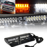 White Yellow 16 LED Strobe Light High Intensity LED Emergency Hazard Warning For SUV Truck Interior Windshield With Suction Cups