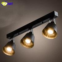 FUMAT Vintage Loft LED Ceiling Light With Long Rod Black Iron Ceiling Lamp Industiral Bar Aisle