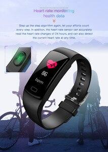 Image 5 - Banda inteligente pulseira Heart Rate monitor de pressão arterial à prova d água esportes de Fitness Rastreador smart watch para andriod ios moda Quente