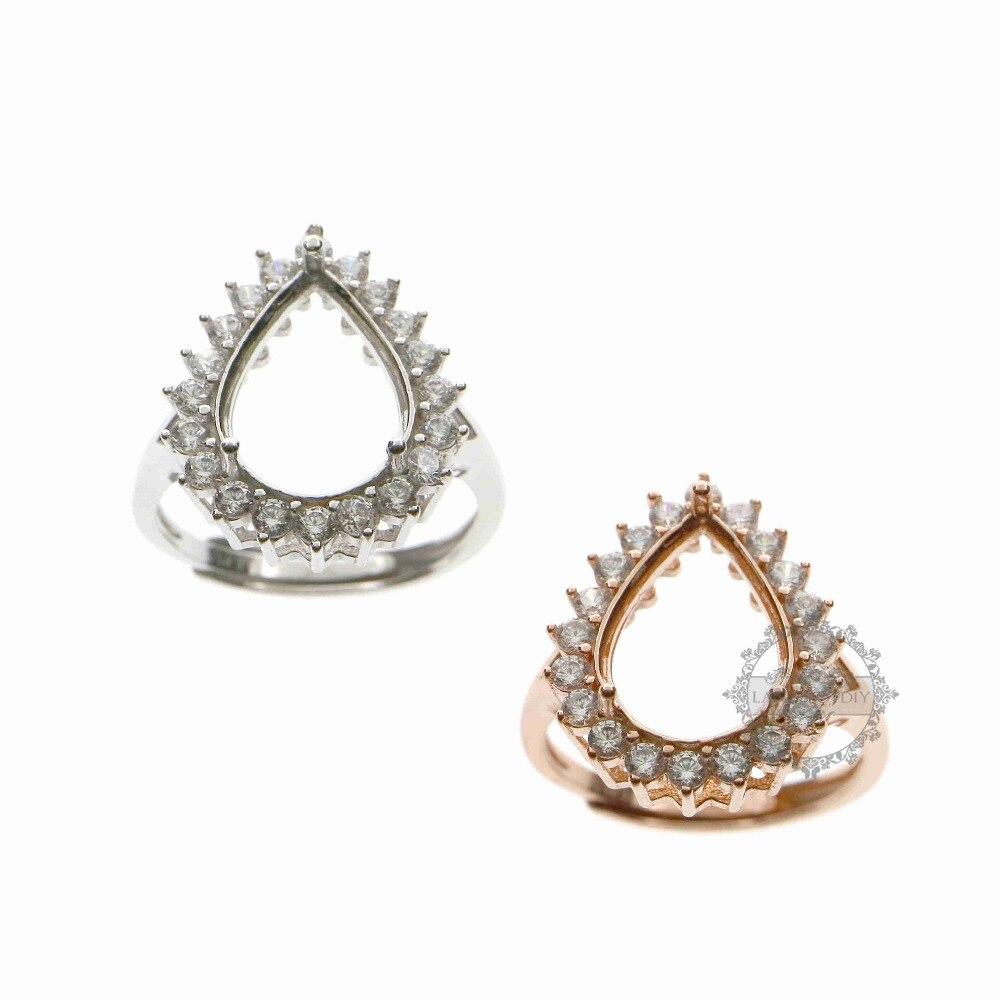Набор украшений из стерлингового серебра 925 пробы, регулируемое кольцо из розового золота и серебра 1294107