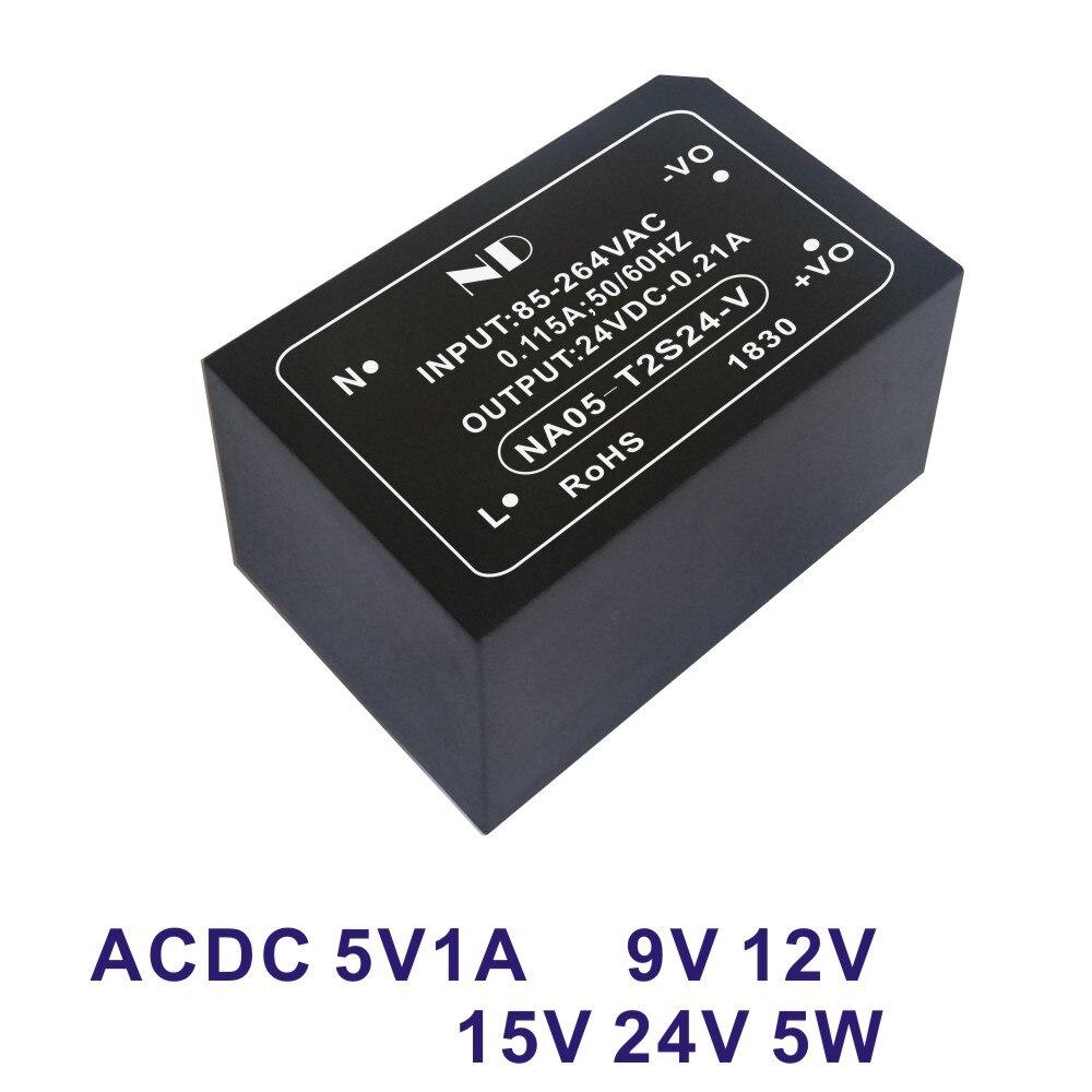 1pcs ac dc 110V 220V to 5V 1A 6V 9V 12V 24V 5W switching power supply module converter quality goods