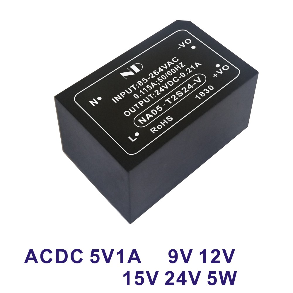 1pcs ac dc 110V 220V to 5V 1A 6V 9V 12V 24V 5W switching power supply module converter quality goods image