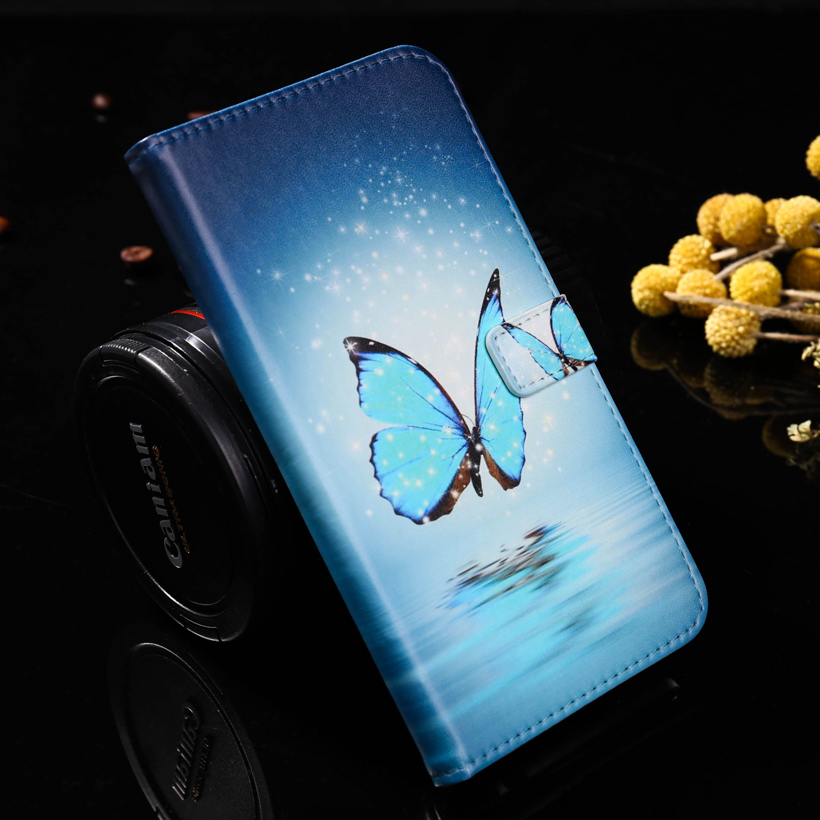 Wolf Butterfly PU Leather Cell Phone Cases For Motorola Moto Z Force Droid Edition Verizon Vector Maxx Housing Bags Covers Shell