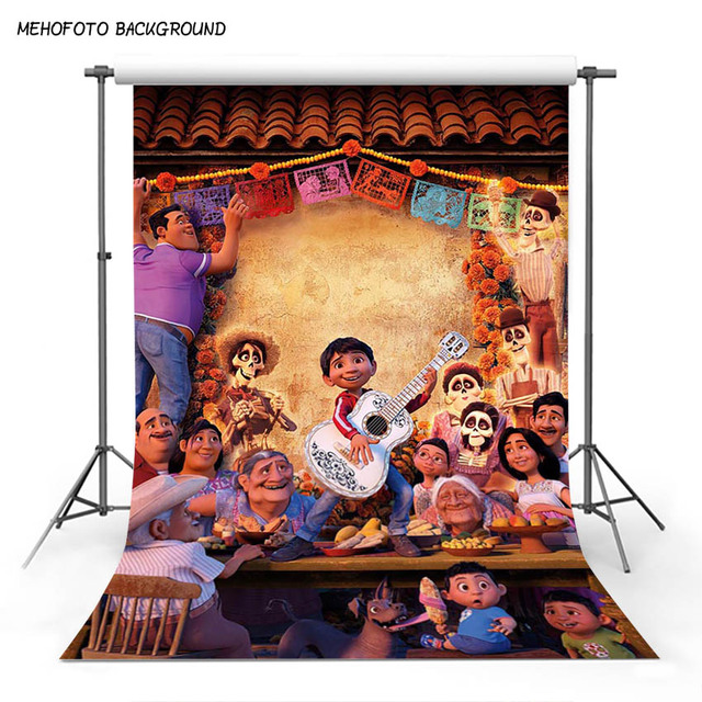 Mehofoto Cartoon Coco Movie Backdrop Children Birthday