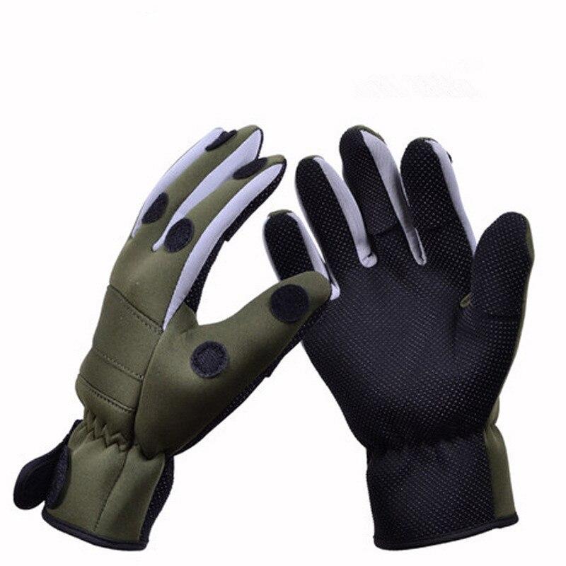 Winter Fishing font b Glove b font Warm Thick waterproof Anti slip Lure font b Gloves
