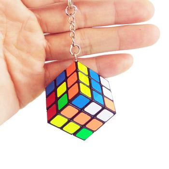 Mini 3rd order brelok magiczna kostka prędkość kostka łamigłówka edukacyjna zabawka dla dzieci dzieci tanie i dobre opinie ZCUBE Z tworzywa sztucznego KeyChain Square 12-15 lat 5-7 lat 8 lat 6 lat Dorośli 8-11 lat 3x3x3 Puzzle cube