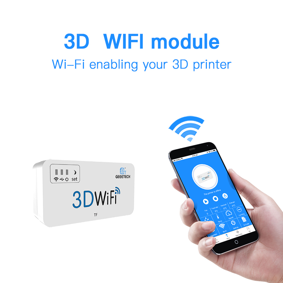 Geeetech 3D WiFi Module 3D Printer Parts & Accessories with TF Card USB2.0 Support Wireless for Most Hot 3D Printers видео очки excelvan 52 3d tf 128753701